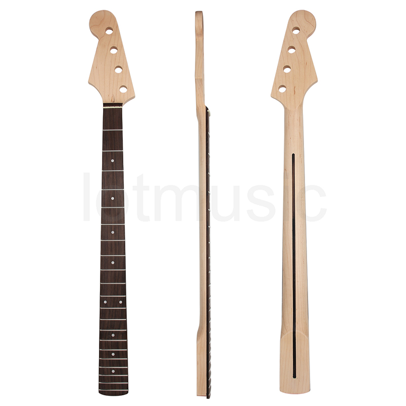 Kmise Electric Bass Neck for Left Hand Fender Ja...