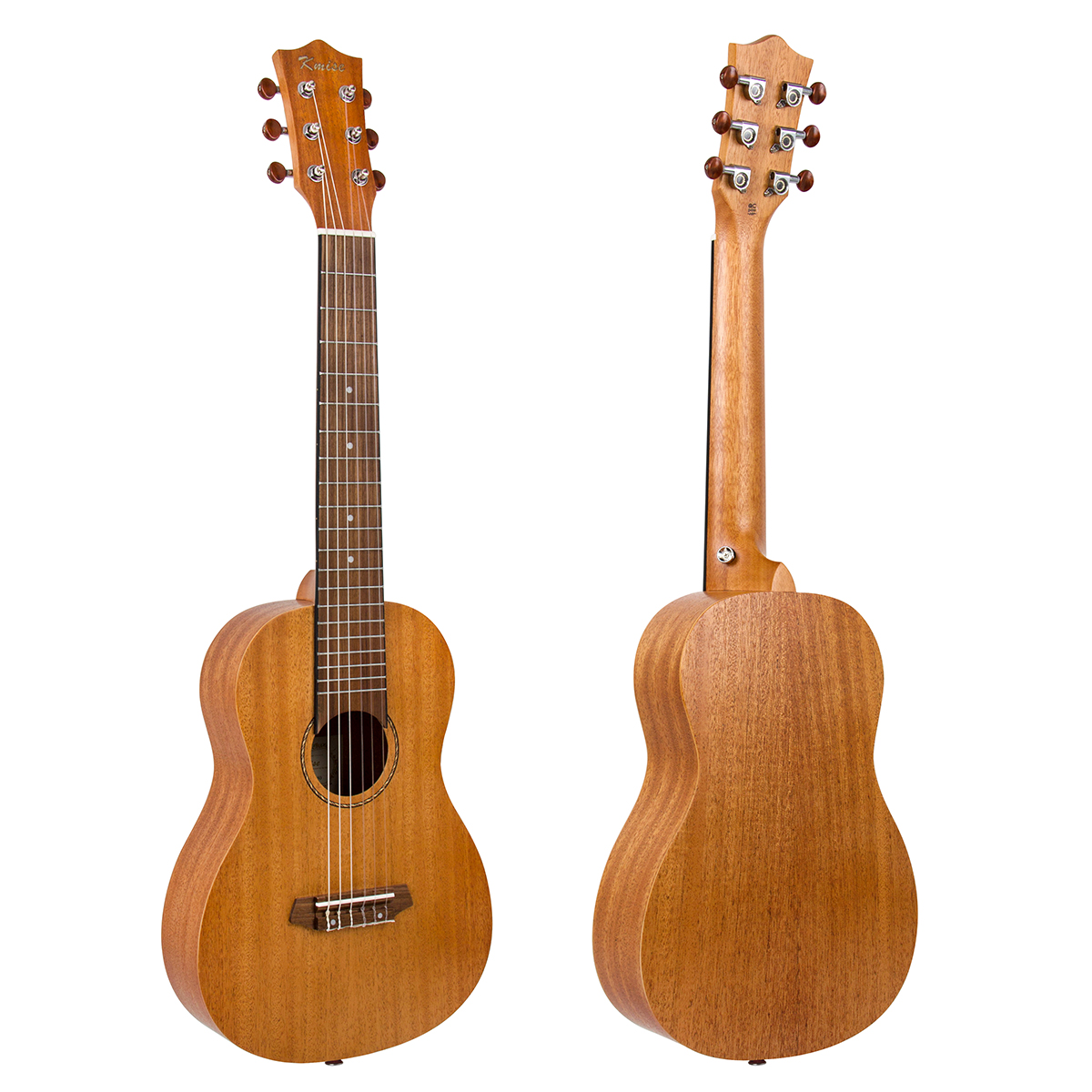 Kmise Guitalele Mini Travel Guitar Ukulele 31 inch Mahogany 20 Frets 18:1 Advanced Tuner Dual Truss Rod with Strap Lock  A-D-G-C-E-A