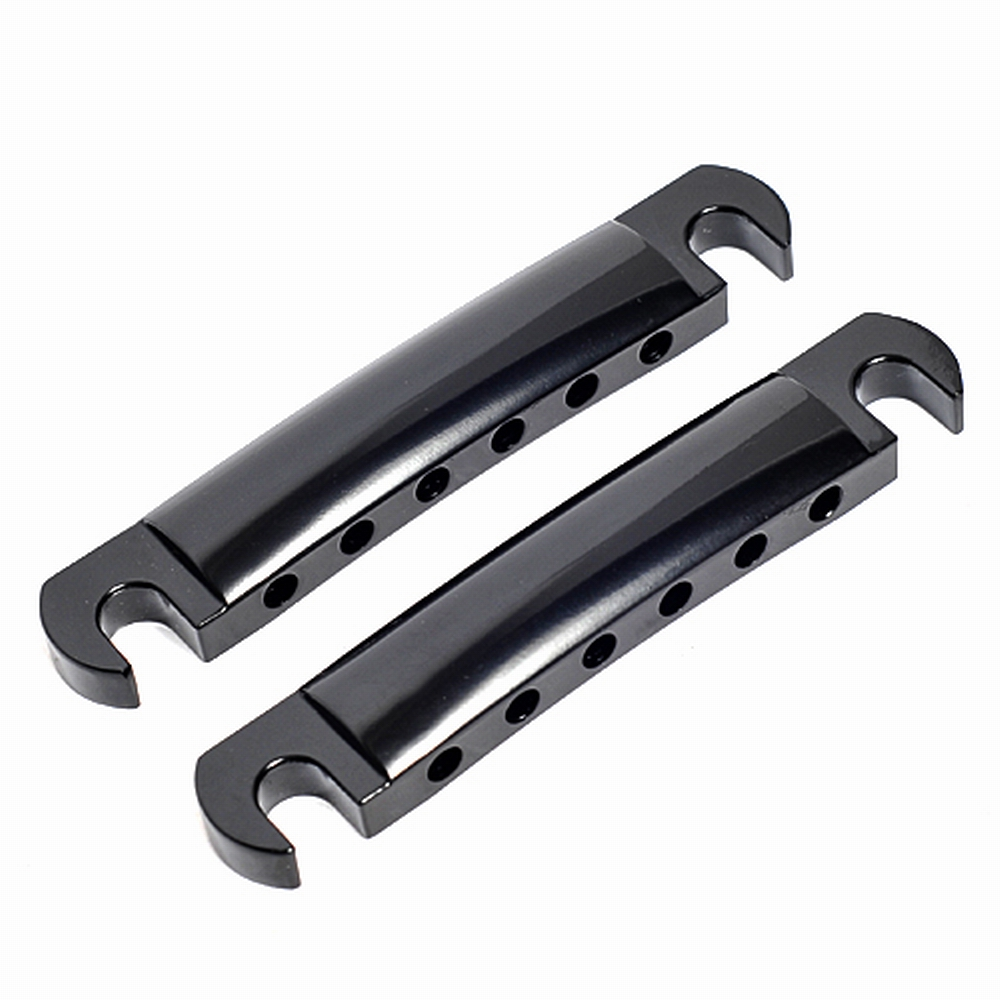 2sets Tune-o-matic Bridge Tailpiece & Stop Bar Black for