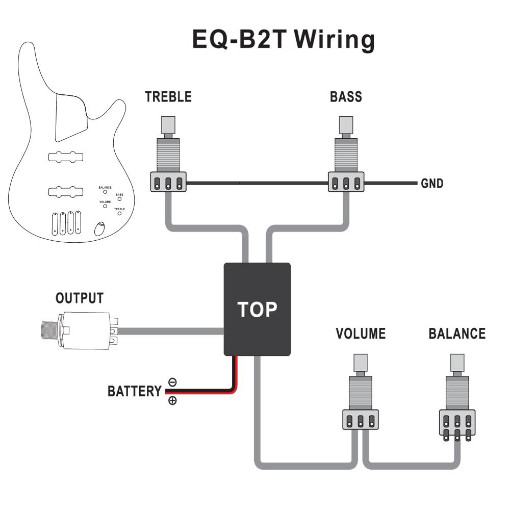 8 Stze Belcat 2 Band Active Eq Preamp Schaltung Fr Bass Wiring Diagram 1 Volume Pickups Picture