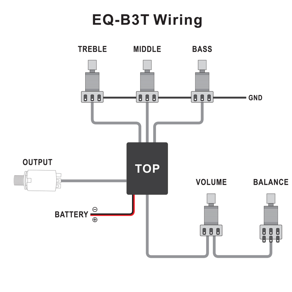 2 Sätze Belcat Active EQ Bassgitarre EQ - B3T Vorverstärkerschaltung Für Active  Bass Pickup Parts