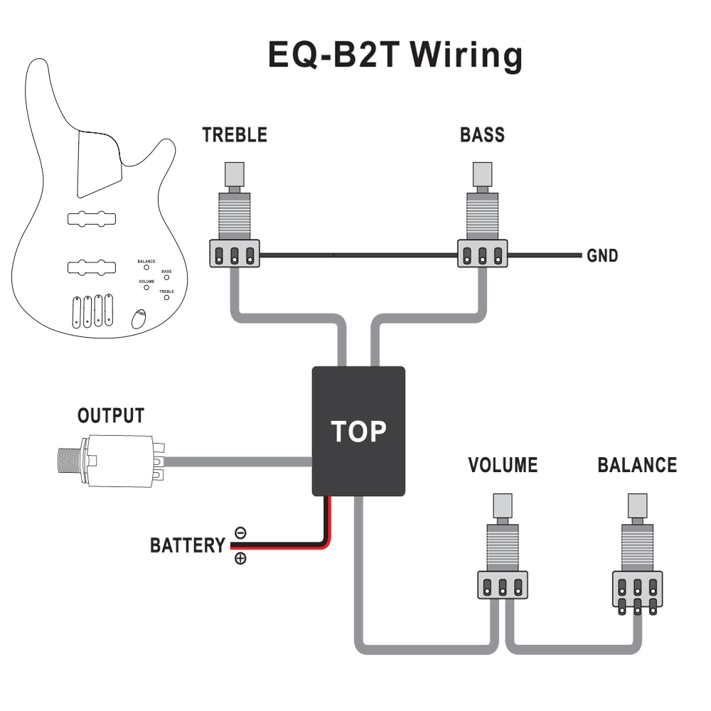 2sets 3 Band Active Guitar Bass Eq Preamp Circuit Tone