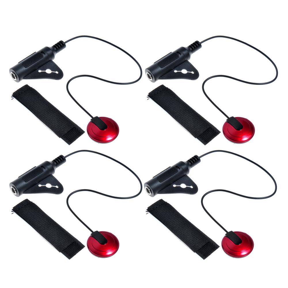 4 Stück High Sensitive Piezo Kontakt Mikrofon Pickup Für