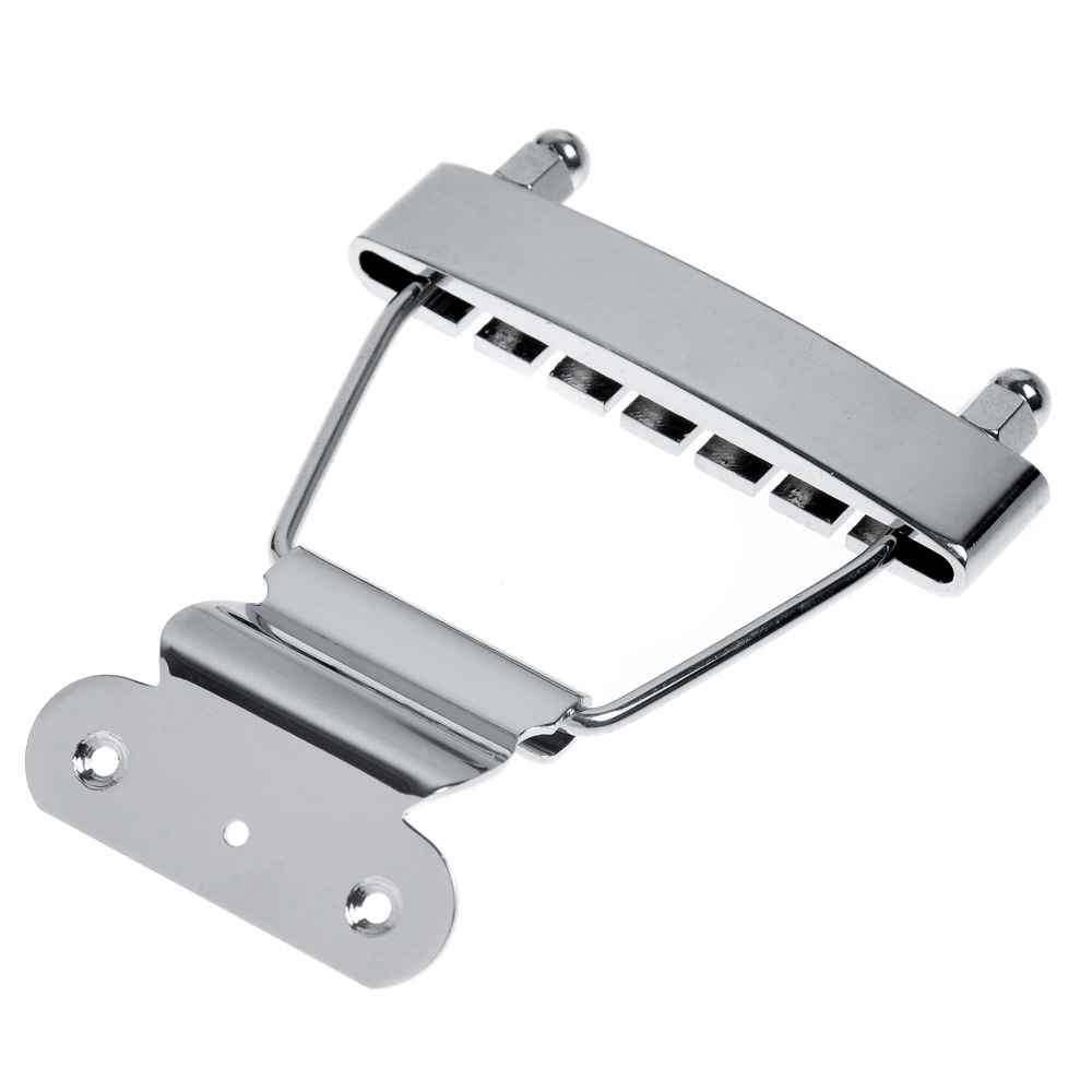 2pcs Chrome Short 6 String Tailpiece for Archtop Guitar Bass