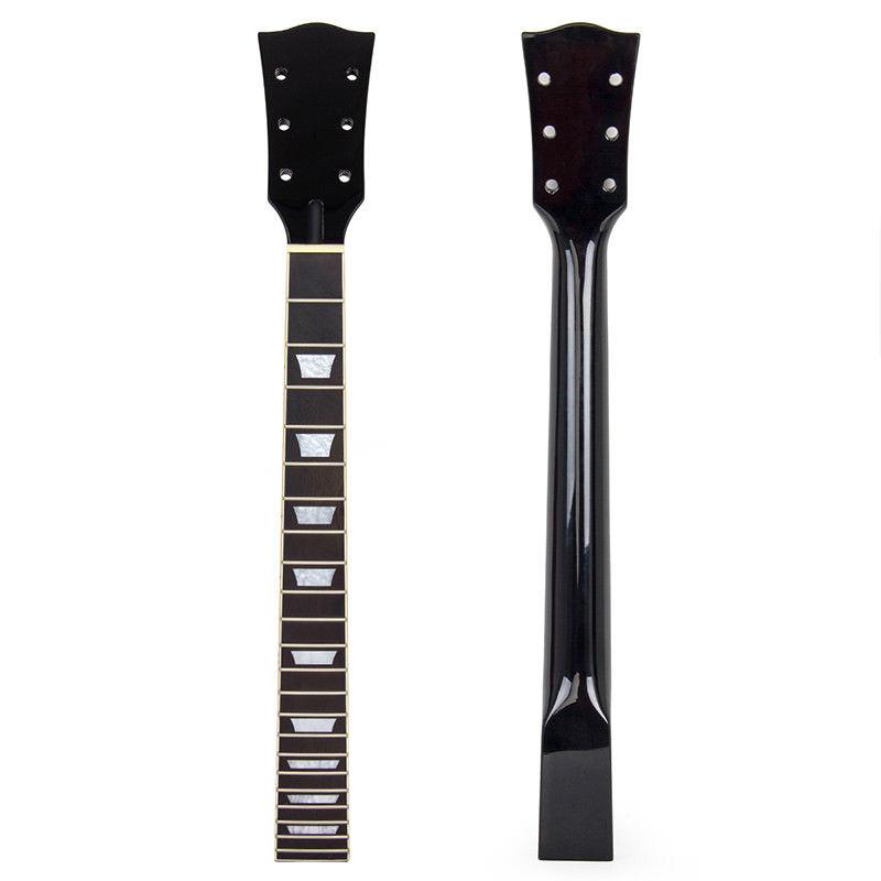 kmise electric guitar neck for gibson les paul black gloss canada maple 22 frets dual truss rod. Black Bedroom Furniture Sets. Home Design Ideas