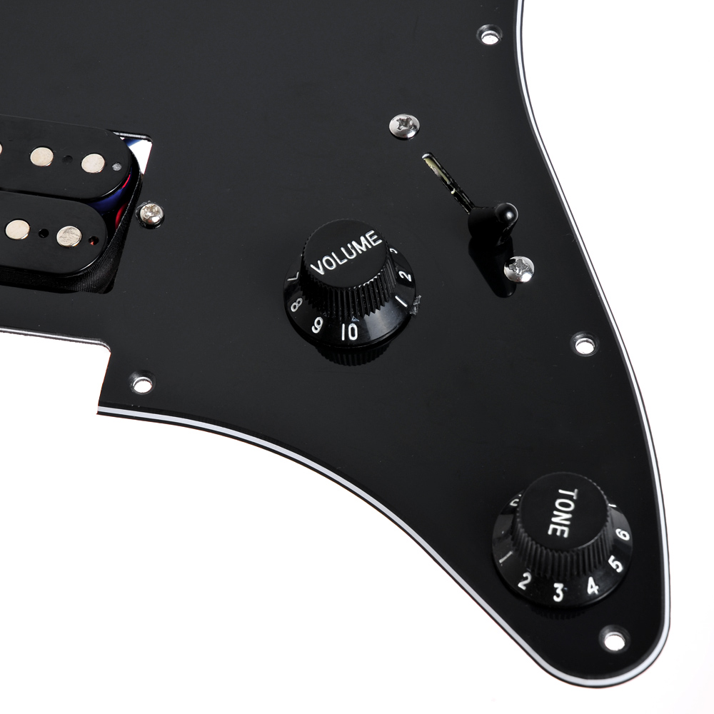1set Loaded Strat Pickguard Scratchplate Black W 2 Humbucker Way Switch Guitar Wiring Harness Together With 1 Set Picture