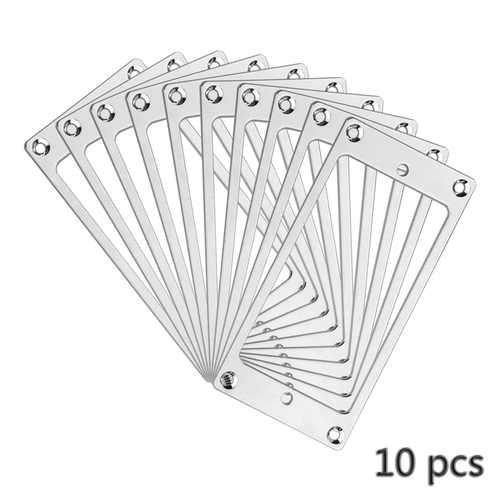 10pcs Guitar Parts Humbucker Pickup Flat Bezel Metal Mounting Ring Diagram Of Chrome